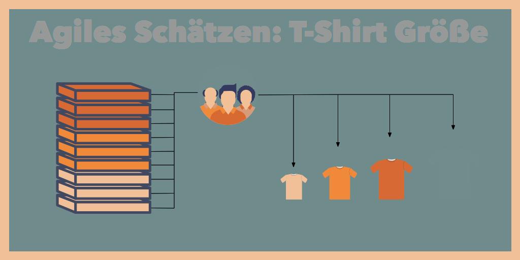 agiles Schätzen T-Shirt Größe