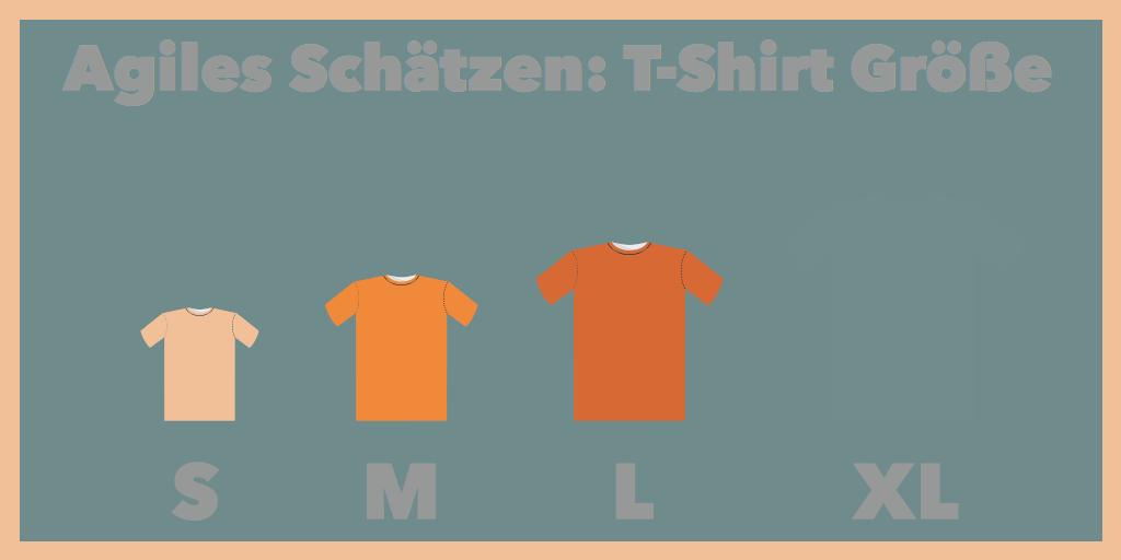 Infografik agiles Schätzen T-Shirt