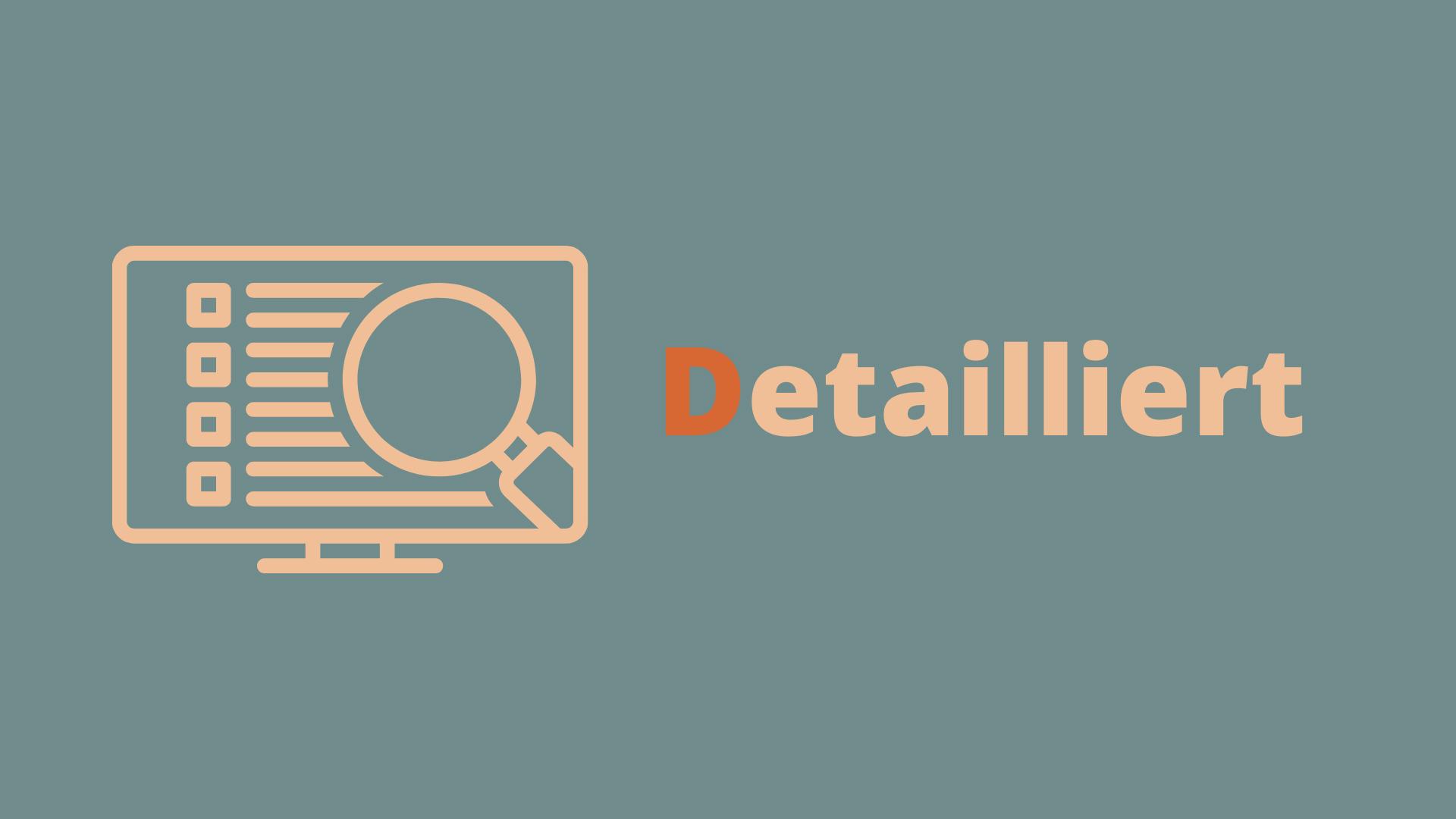 DEEP - Detailliert - Product Backlog