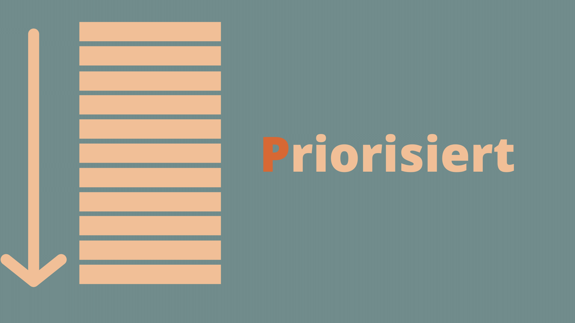 DEEP - Priorisiert Product Backlog